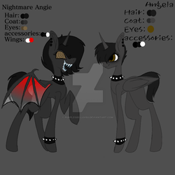 Angela's Oc Ref sheet by Purplegirlluvsu