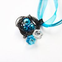 Cuckoo Nest Necklace - Cyber Goth Style by DreamyElegance