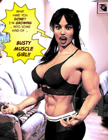 Busty Muscle Girl by Lingster