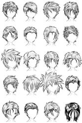 20 Male Hairstyles by LazyCatSleepsDaily