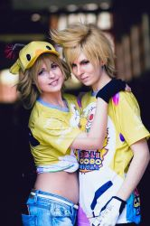 Cindy and Prompto - FFXV by LauraNikoPhantomhive