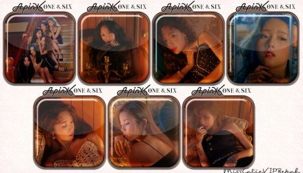 Apink One and Six Icons by MissCatieVIPBekah