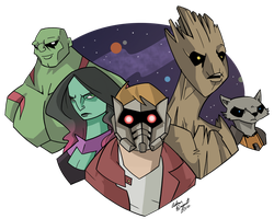 Guardians of the Galaxy by GeekyAnimator