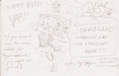 Vap's B'day Sketch 2011 by xychojack