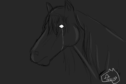 Cheval triste by Cryptidette