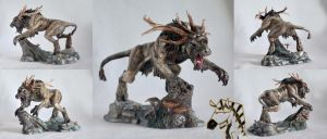The Witcher 3: Wild Hunt - Fiend figure by ZebraChanWorkshop