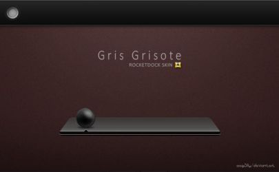Skin Gris Grisote for RocketDock by acg3fly