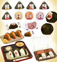 MMD ONIGIRI RICE BALL BENTO MODEL SET PACK DOWNLOA by Hack-Girl