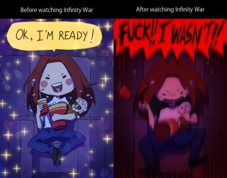 Before and After Infinity War by NarumyNatsue