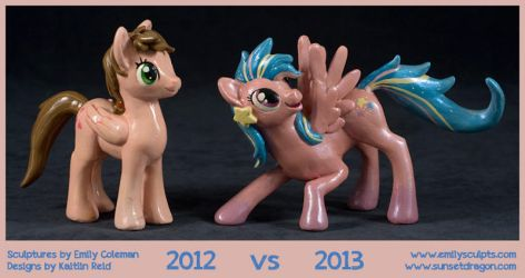 MLP Comparison, 2012 vs 2013 by emilySculpts
