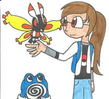 A Mothim and Poliwhirl