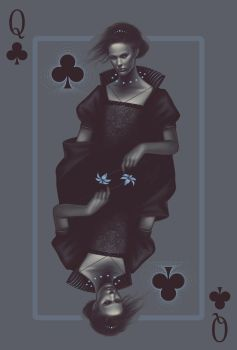 Queen of Clubs by maudt