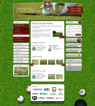 Golfclub website by fuxxo