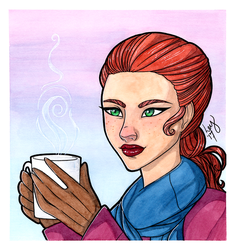 Let It Snow (Tegan from Plume Comic) by leys