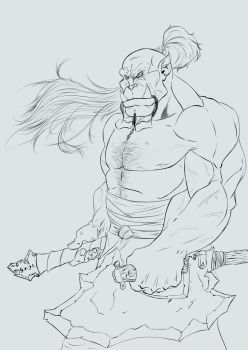 Orc01bw by Psewell
