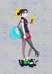 Hipster Chick with a Guitar by kreska