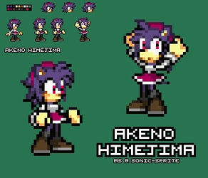 .:Comm:. ~ Akeno as a Sonic Sprite by SonicDBZFan4125