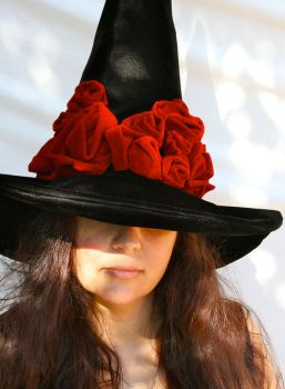 Gothic Gorgeous Witch Hat by mermaidencreations