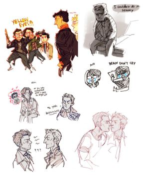 dean and pie otp by Blue-Fox