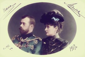 Nicholas and Alexandra in 1917 by KraljAleksandar