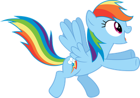 excited Rainbow Dash by BaumkuchenPony