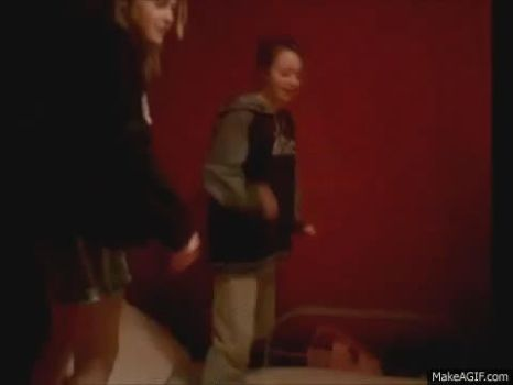 Short fight between woman and girl by the-big-balls