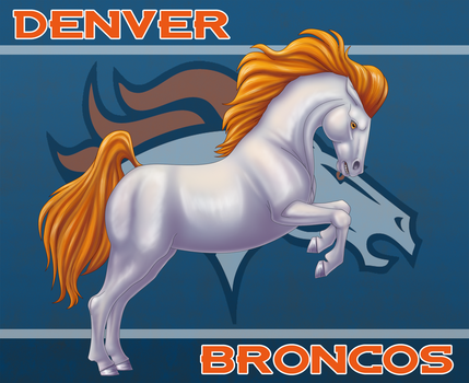Denver Broncos by Pookabay