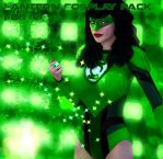 Green Lantern and Red Lantern cosplay pack for V4 by Terrymcg