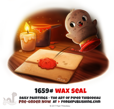 Daily Painting 1659# - Wax Seal by Cryptid-Creations