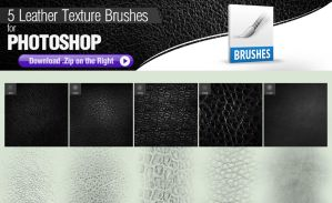 5 Photoshop Brushes for Painting Leather by pixelstains