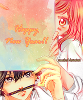 Happy new year - Ao haru ride by IAMeikoD