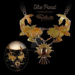The Pond Koi Lotus Necklace by popnicute