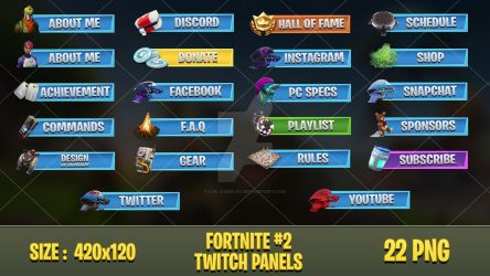 Fortnite - Twitch Panels #2 by lol0verlay