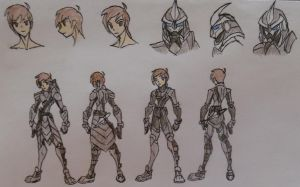 Mako, With and Without Samurai Army Armor by StoneMan85