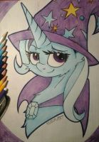 Great and Powerful Trixie. Portrait by Kindny-Chan