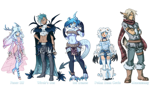 Winter Fantasy Adoptables AUCTION OPEN by QviCreations