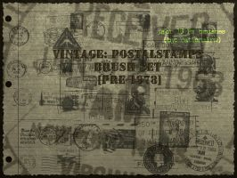 Vintage: postage stamps brushes by rationalrn