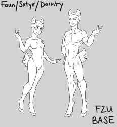 F2U Dainty or faun/satry base by artofdroth