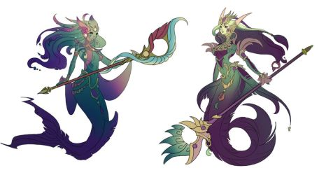 River Spirit Nami Concept from Riot Games by Lonewingy