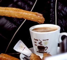 Churros and Coffee by silentmemoria