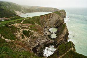 Stair Hole and Lulworth Cove, Dorset by wafitz