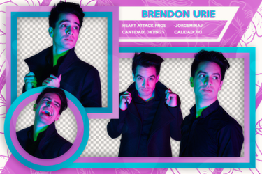 Pack png: Brendon Urie by JorgeMinaj