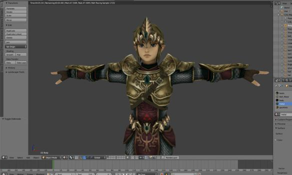 Link wearing the Magic Armor ( TP - in progress) by mg76Animations
