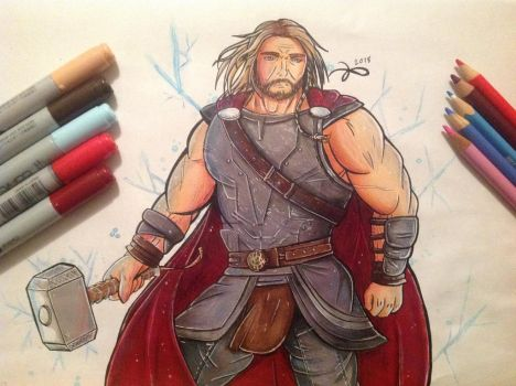 Thor- Son of Odin by Kro-987