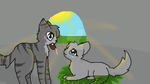 Jayfeather and Cinderheart by Bindiluckycat