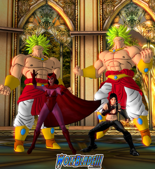 Guardian Broly and GoC Broly And Their Ladies by WOLFBLADE111