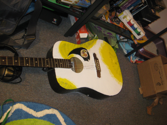 guitar-painting first yellow by not-fun