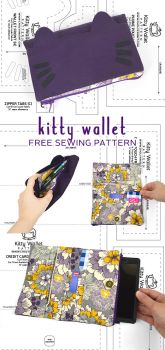 Kitty Wallet Sewing Pattern by SewDesuNe