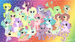 Complete Tentacle Pony Group Wall Paper Gen1. by mea0113