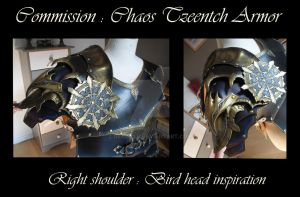 Commission : Chaos Tzeentch Armor - Shoulder 1 by Deakath